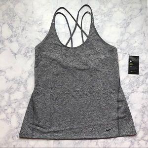 NWT NIKE Dri Fit Athletic Gym Gray tank top shirt